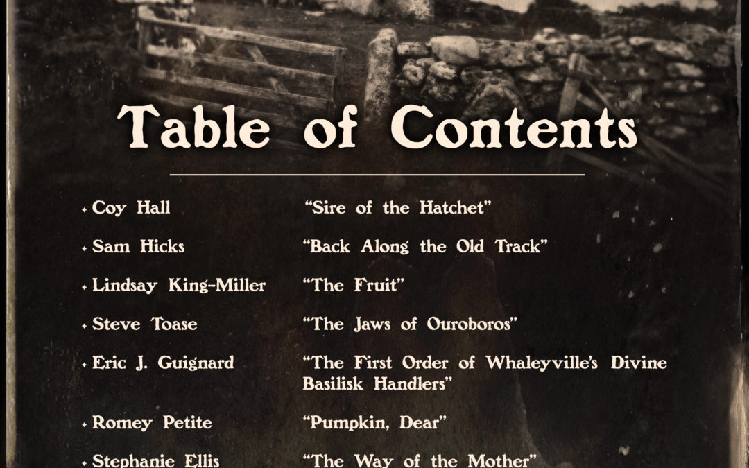 The Fiends in the Furrows: Table of Contents